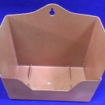 Cajón jaula percha plástico marrón