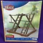 Parque inseparables y ninfas en madera natural Trixie 3